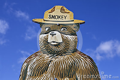 Smokey the Bear Fire Prevention Sign Editorial Stock Image