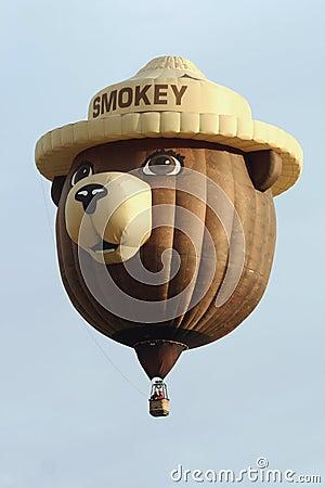 Smokey the Bear Hot Air Balloon Editorial Photography