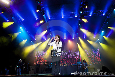Smokie rock band performs at Cluj Arena Grand Open Editorial Stock Image