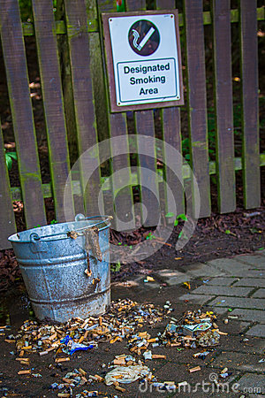 Smoking area bin