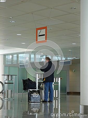 Smoking area sign at airport