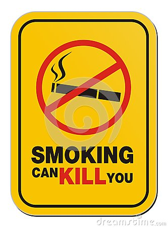 Smoking can kill you sign