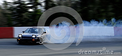 Smoking Drift Car