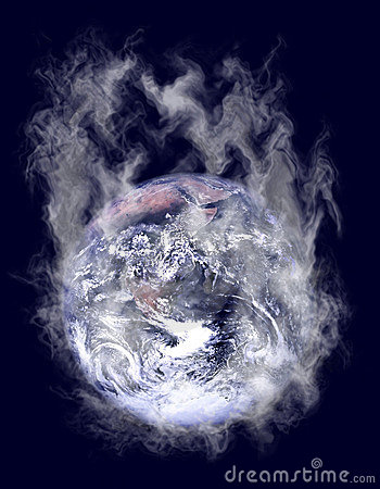 Smoking Earth globe