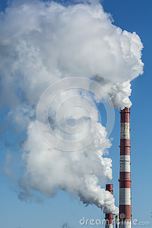 Free Smoking Factory Chimneys Pollution Royalty Free Stock Images - 30054329
