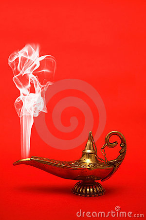 Smoking Genie Lamp