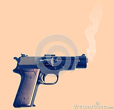 Free Smoking Gun Stock Image - 2966341