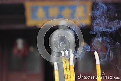 Smoking Incense Sticks