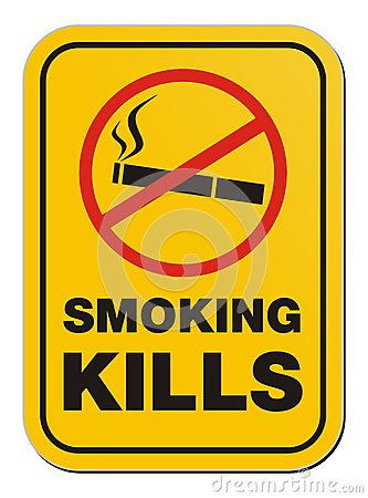 Smoking kill sign