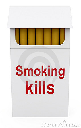 Smoking kills on Cigarettes Packet