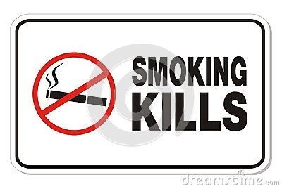 Smoking kills - rectangle signs