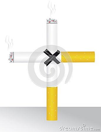 Smoking kills you Vector Illustration