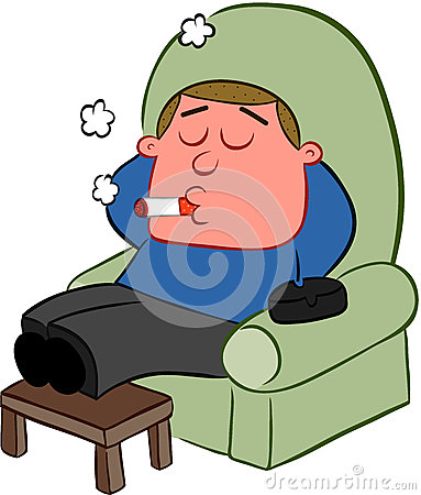 Smoking Man Cartoon