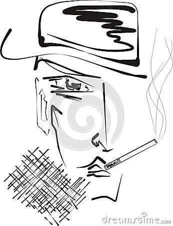 smoking man  cigarette