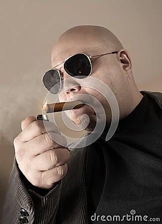 Smoking mobster