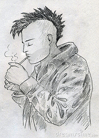 Smoking punk sketch