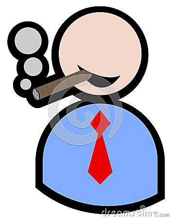 Smoking puppet