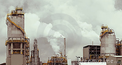 Smoking refinery