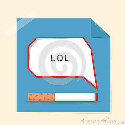 Smoking and speech bubble design poster