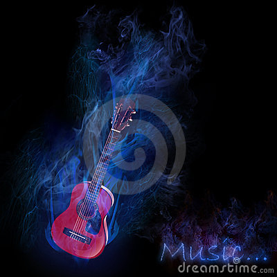 Smoky guitar