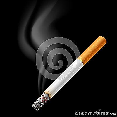 Smoldering cigarette