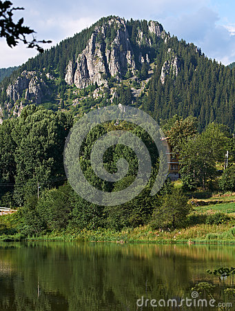 Smolyan lake and rocks, Bulgaria