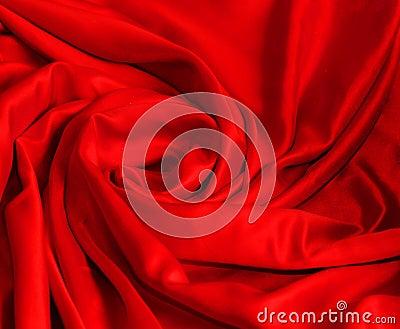 Smooth elegant red silk