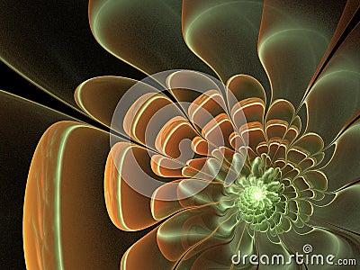 Smooth fractal flower