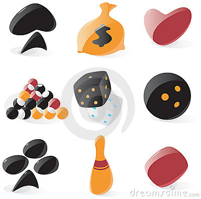 Smooth game and gambling icons