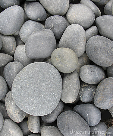 Smooth gray pebbles royalty free stock photos image 3585618 for Smooth landscaping rocks