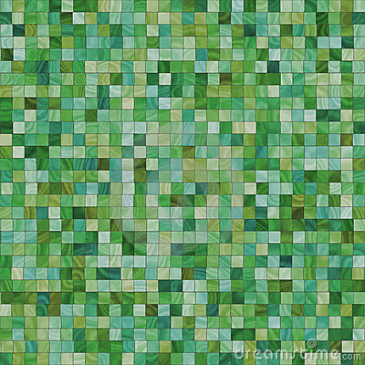 Smooth irregular green tiles