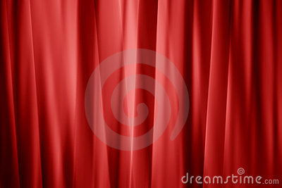 Smooth layered red curtain