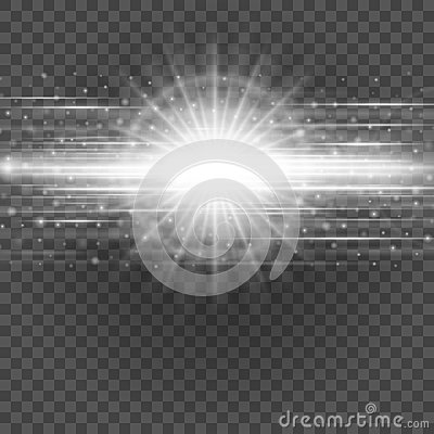 Smooth light gray lines on transparency background vector illustration. Vector Illustration