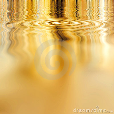 Free Smooth Liquid Gold Royalty Free Stock Images - 5304029
