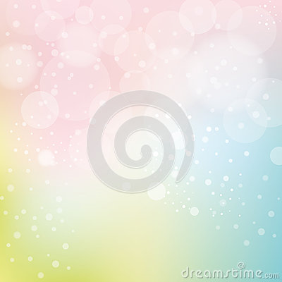 Smooth Pastel Background With Bokeh Vector Illustration