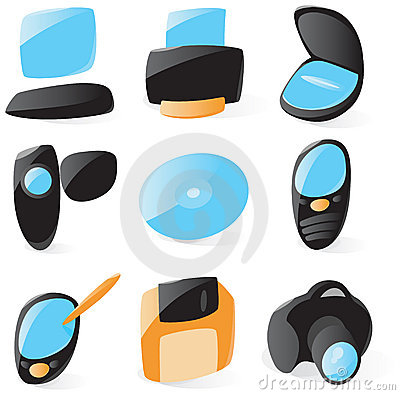Smooth pc peripherals icons