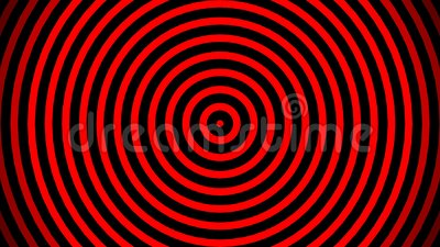 Smooth relaxing abstract background  Animated pulsating circles or radio  waves  red, black