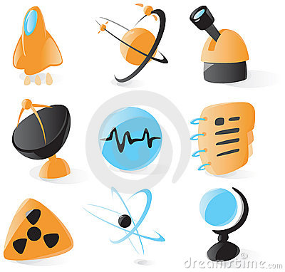 Smooth science icons