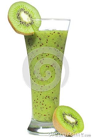 Free Smoothie With Kiwi Stock Image - 15947341