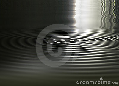 Smoothly animated 3D image of circular waves expanding