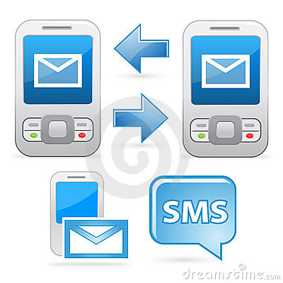Sms Communication Icons Royalty Free Stock Image - Image: 18669736