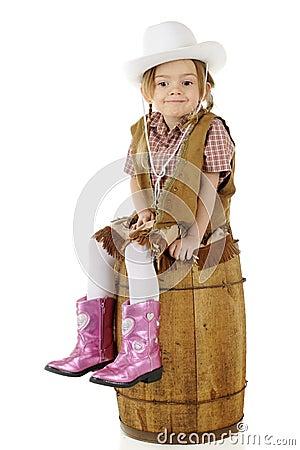 Smug Little Cowgirl