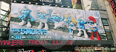 The smurfs. Editorial Stock Image