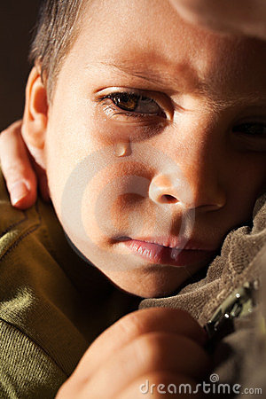 Smutny dziecko płacz