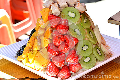 Snack made by various fruit