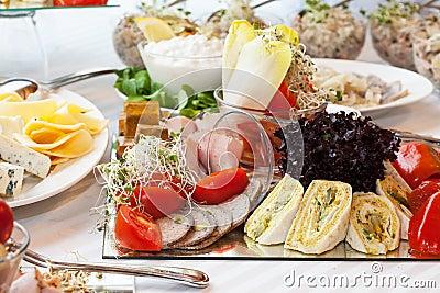 Snack plate closeup