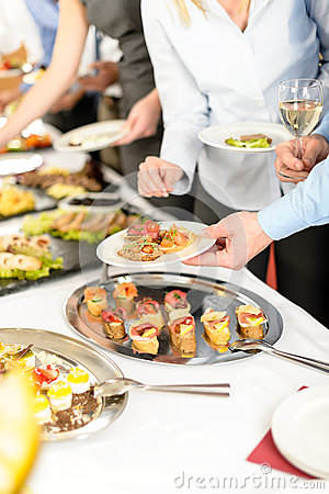 Free Snacks Buffet At Business Company Meeting Royalty Free Stock Image - 24907006