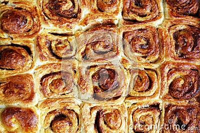 Snail bread rolls