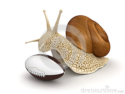 Snail and Football (clipping path included)