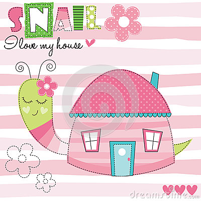 Free Snail House Vector Illustration Stock Images - 78039364